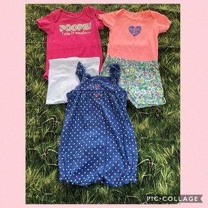 Bundle of 3 baby outfits size 12 M